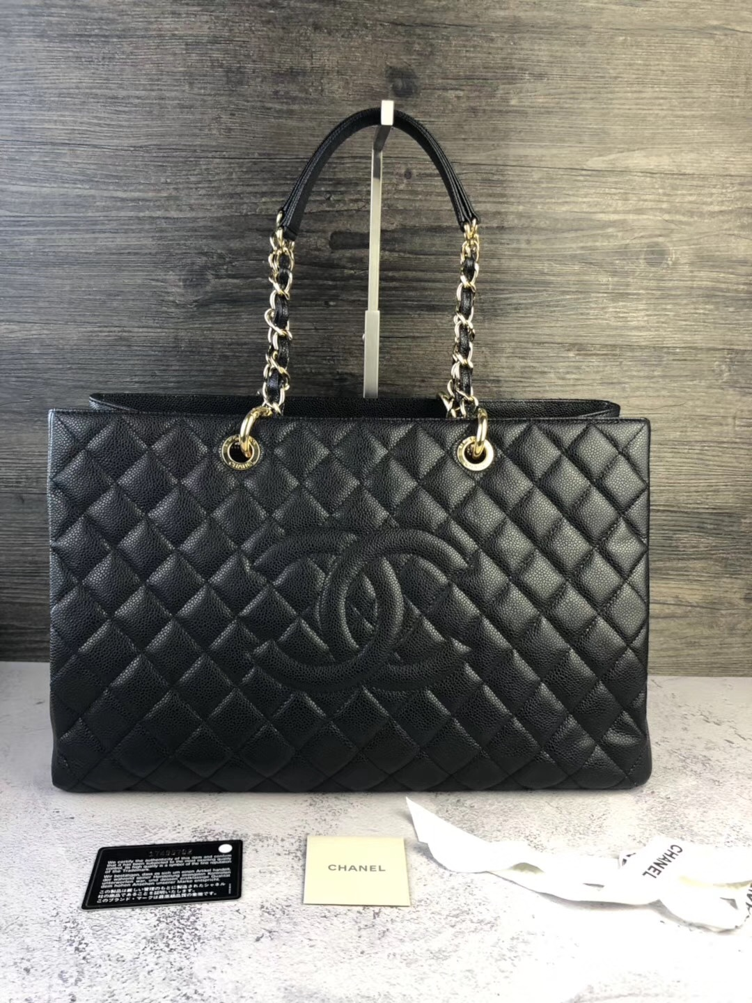 8bc12b7d99f5 6b555fba f39b 42b2 95fd 52d86b53b2ce. 6b555fba f39b 42b2 95fd 52d86b53b2ce.  Previous. AUTHENTIC CHANEL BLACK QUILTED CAVIAR XL GST GRAND SHOPPING TOTE  BAG ...