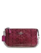 Coach Nolita Wristlet 19 In Clolrblock Exotic Embossed Leather NWT - $109.00