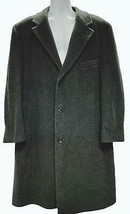 Lauren Ralph Lauren Topcoat Coat Herringbone Fully Lined Cashmere Wool 44 R - $91.99