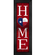 """Texas """"HOME State Pride"""" With Flag 8 x 24 Framed Print - $39.95"""