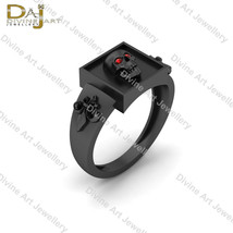 Fleur De Lis Wedding Ring Spooky Skull Ring Royal French Flower and Skul... - €113,43 EUR+
