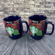Starbucks Poinsettia 12 Oz  Ceramic Cup Set of 2 Cups - $32.30