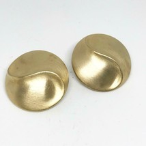Vintage Signed Ben-Amun Big Clip Earrings Gold Plated Haute Couture Chunky - $49.49