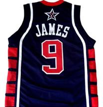 Lebron James #9 Team USA Men Basketball Jersey Navy Blue Any Size image 2