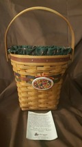 Longaberger 1993 Shades Of Autumn AUTUMN HARVEST Basket 14303 Liner Prot... - $19.95