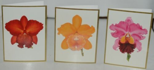 Caspari 80631 46 ORCHIDS Assorted Boxed Notes and Envelopes Package 6 3 Designs