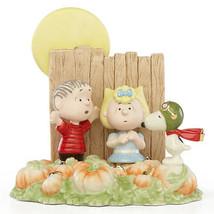 Lenox Peanuts Halloween Figurine The Great Pumpkin Patch Snoopy Sally Li... - $87.00