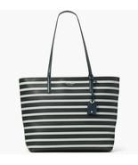 NWT Kate Spade Janie Striped Smooth Leather Medium Tote WKRU6264 $329 Blue Navy - $124.80