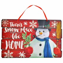 There's No Place Like Home Seasonal Decorative Snowman Sign 14.5 x 9.125... - $3.50