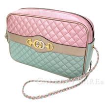 GUCCI Shoulder Bag Leather Multicolor Quilting Metallic 541061 Authentic... - $1,173.15