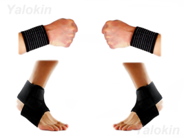 2 Wrist Straps, 2 Ankle Straps for Recovery,Injury Protection Support (ST9) - $14.99
