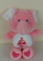 "Care Bears Cousins Lotsa Heart Elephant 14"" Plush Stuffed Pink 2004 - $14.60"