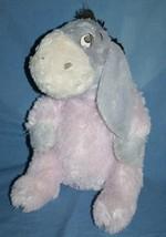 "Disney EEYORE 20"" Lavender Pink Purple Big Stuffed Soft Toy Plush Disney... - $13.62"