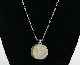 Vintage .925 Sterling Silver KATHY BRANSFIELD Gold Tone Heart Cross Neck... - $26.99