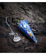 7 Chakra Lapis Peace Pendulum Spirit Contact Communication Spell Cast Ha... - $39.99