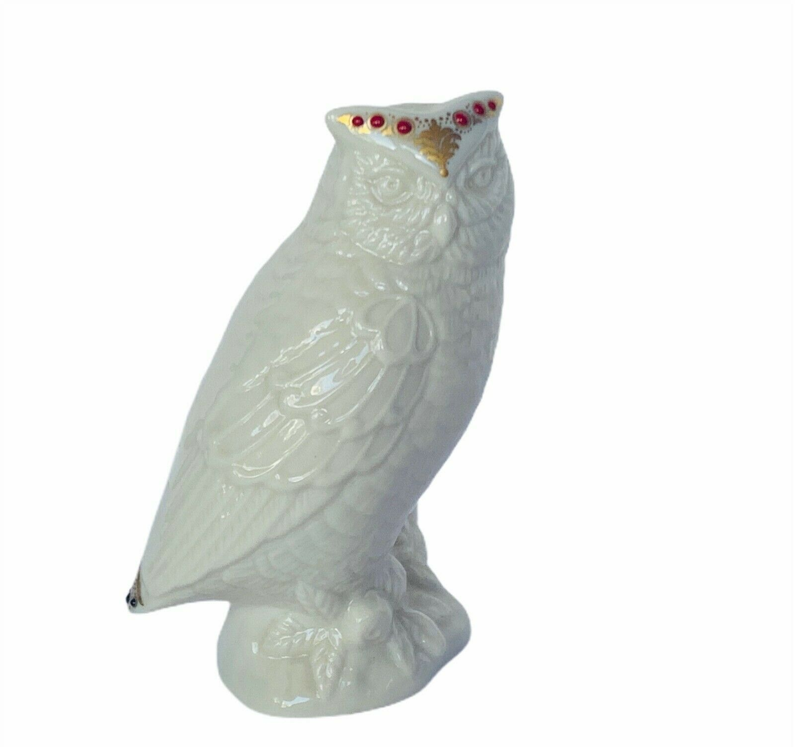 Primary image for Owl figurine vtg sculpture Lenox china crown jewels collection porcelain snowy