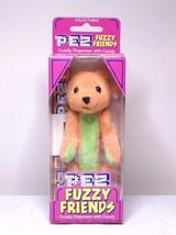 Pez Fuzzy Friends TJ Bear Cuddy Dispenser With Backpack Clip - $7.99
