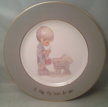"""Precious Moments Collector Plate """"I'll Play My Drum for Him"""" w/ Original Package - $9.75"""