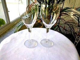 Set of 2 High Quality Clear Crystal White Wine Goblets Unbranded - $24.74