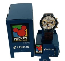 Walt Disney Watch Mickey Mouse Lorus wristwatch Small World chronograph ... - $247.50