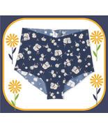 L  Navy Daisy V LOGO NO SHOW Edge Victorias Secret High Waist Midi Brief... - $10.99