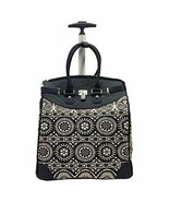 """Rollies Aztec 14"""" Rolling Laptop Travel Tote Black Luggage - $69.29"""