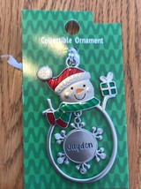 "Christmas Tree Ornament Snowman ""Jayden"" Vintage Rare Ships N 24h - $11.86"