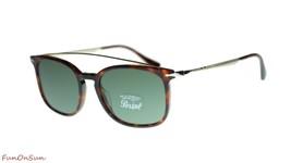 Persol Mens Rectangle Sunglasses PO3173S 2431 Havana/Green Lens 54mm - $169.75