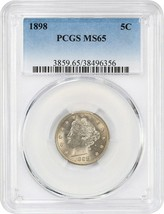 1898 5c PCGS MS65 - Silky Gem - Liberty V Nickel - Silky Gem - $552.90