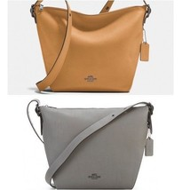 Coach 21378 Leather Large Dufflette Crossbody Bag - $139.99