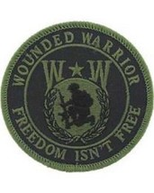 United States Wounded Worrior Hat Or Pocket Patch Freedom Isn't Free OD - $7.91