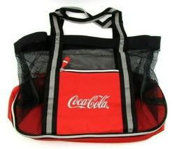Coca-Cola Mesh Beach Bag with Zipper Cooler Bottom Coke Camping - $38.69