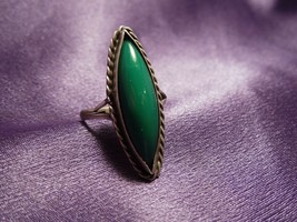 Sterling Silver Green Onyx Ring  - $44.55