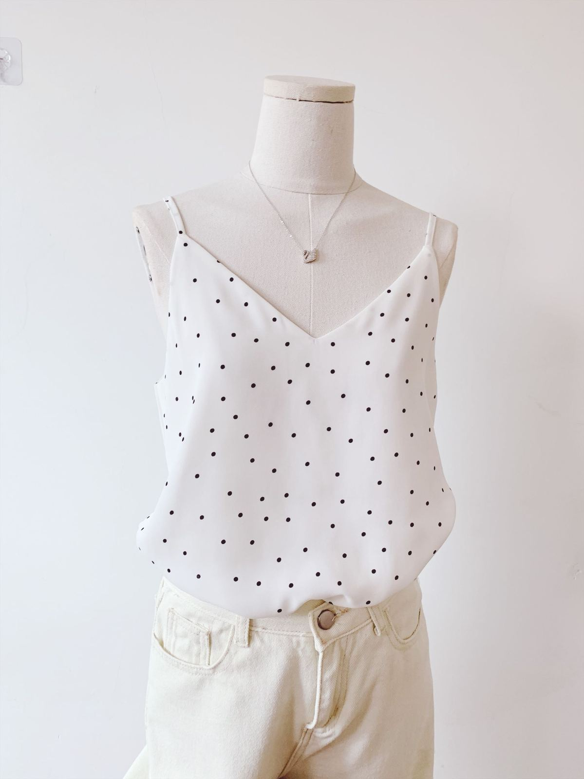 Chiffon top little dot pattern 6
