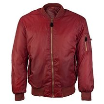 vkwear Men's Multi Pocket Water Resistant Padded Zip Up Flight Bomber Jacket (Me