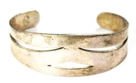 Sterling Silver Citlal Castillo Heavy Cut Out Cuff Bracelet 26mm 48.5g 6... - $98.99