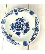 Delfts Blauw Delft Blue Royal Distel Blue & White Hand Painted Holland 5... - $13.85