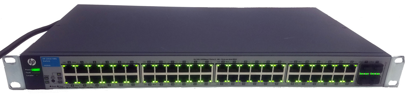 HP 1810-48G (J9660A) 48 Port Gigabit Switch Bin:10