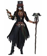 Voodoo Magic Queen Halloween Costume Adult Women M 8-10 Black - $70.53