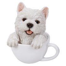 Adorable Teacup Pet Pals Puppy Collectible Figurine 5.75 Inches (Westie) - ₨1,232.96 INR