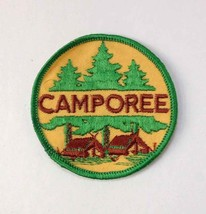 Boy Scouts of America Round Camporee Patch w/ Cabins Yellow/Green Cloth Back BSA - $5.40