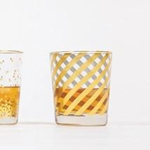 8 Oak Lane EC014STP Diagonal Old Fashioned Glass, 8 oz, Gold