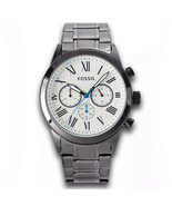 Fossil Classic Chronograph Gunmetal Stainless Steel Men's Watch BQ2232 NWT - $79.99