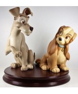 Disney Lady and the Tramp 50th Anniversary Big Figure Ornament Doll Heig... - $983.07