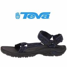 Mens Teva Hurricane XLT Active Sport Sandal Wavy Trail Blue Textile All ... - $64.97 CAD