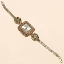 Wedding Women Emerald White Topaz Wrist Watch 925 Sterling Silver Fine  ... - $40.35