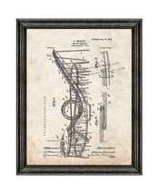 Roller Coaster Patent Print Old Look with Black Wood Frame - $24.95+