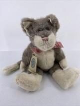 """Boyds Bears Zachariah Alleyruckus Cat 1999 Plush 14"""" Plush Gray White Kitty - $11.29"""