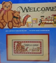 Dimensions Counted Cross Stitch Kit Heirloom Welcome 8347 Christmas Wall Hanging - $8.99