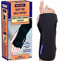 Carpal Tunnel Wrist Brace, Night Sleep Wrist Splint for Both Right Hand and Left image 1